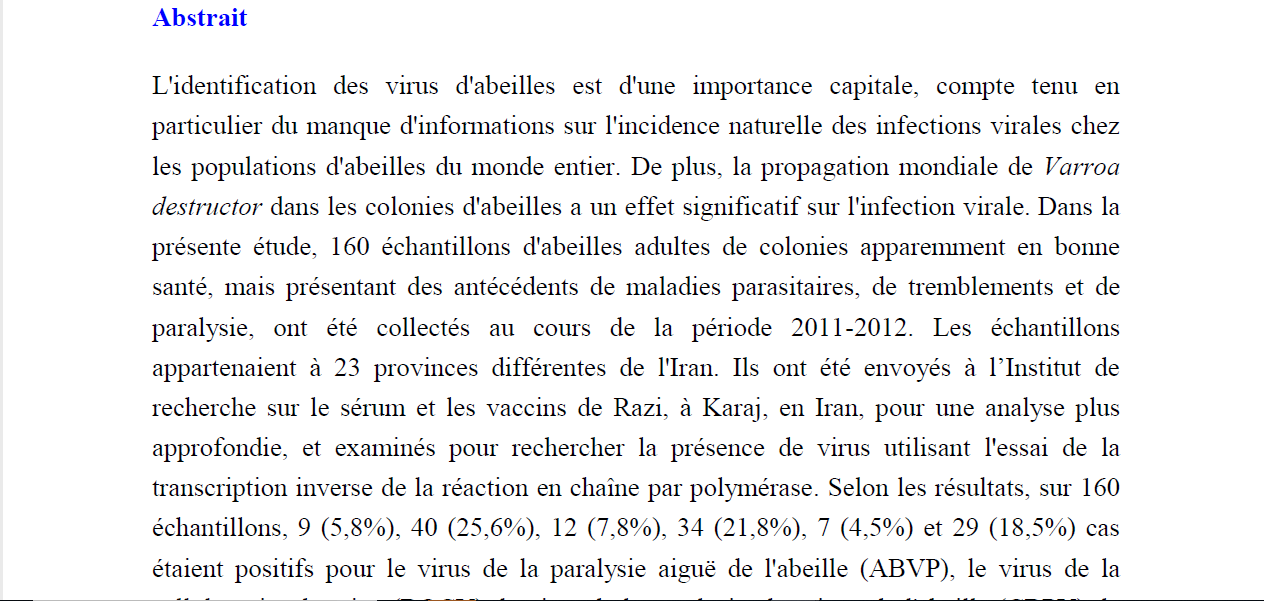French text