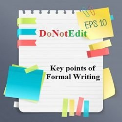 Key points of Formal Writing